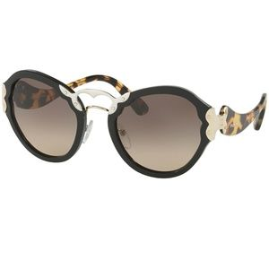 Prada Sunglasses Black w/Brown Gradient Lens